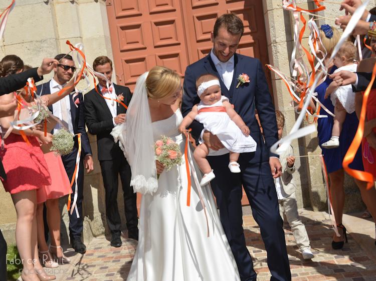 Nos jeunes mariés avec leur petite fille